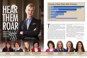 Feature article in Door and Window Market Magazine, showcasing Cori Brown, co-owner of Franklin Window and Door