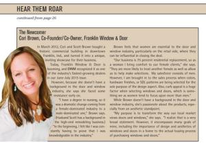 Cori Brown in DWM Magazine.