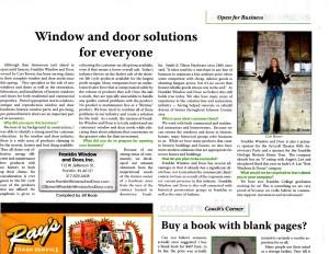 Franklin Window TownePost Nework Article